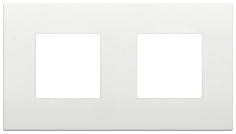 Накладка CLASSIC на 4 модуля (2+2) расстояние между центрами 71мм белая