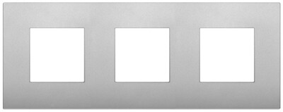 Накладка CLASSIC на 6 модулей (2+2+2) расстояние между центрами 71мм серебро матовое