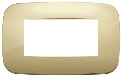 Накладка ROUND на 4 модуля золото