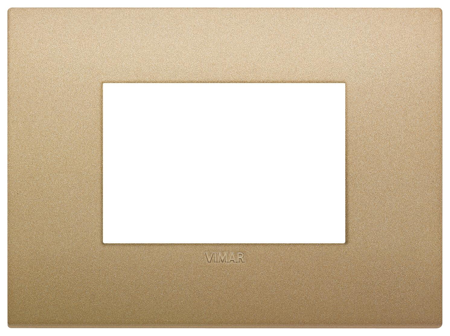 Накладка CLASSIC на 3 модуля золото матовое