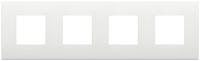 Накладка CLASSIC на 8 модулей (2+2+2+2) расстояние между центрами 71мм белая