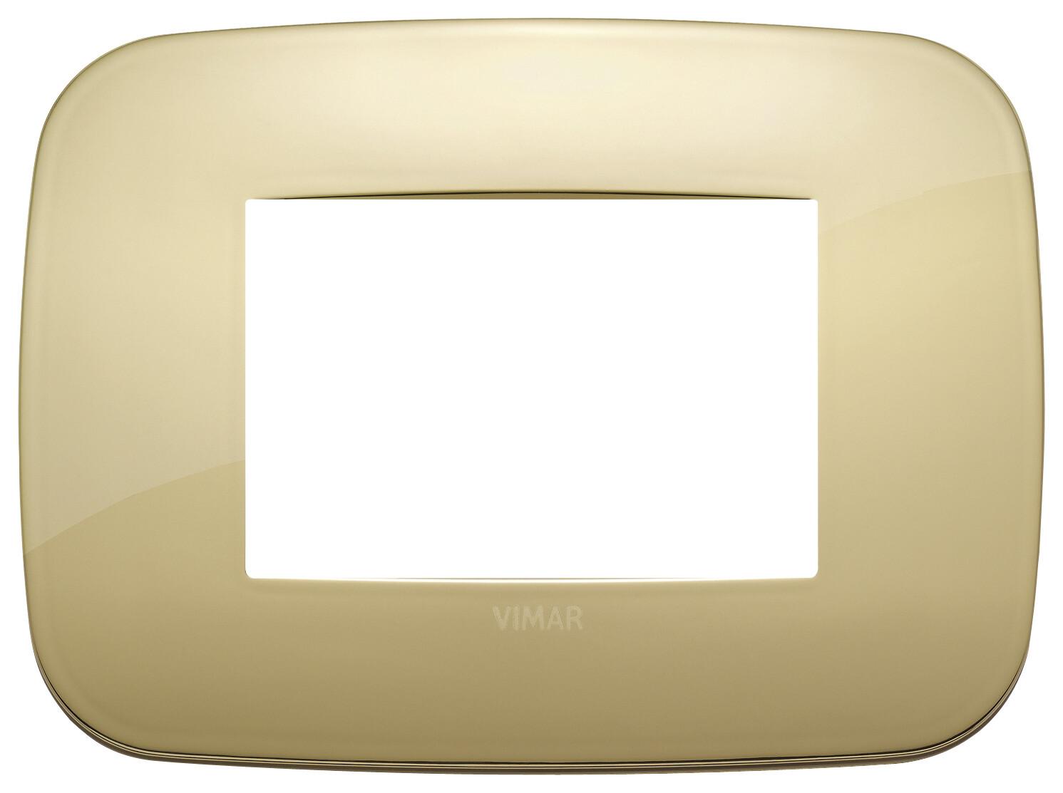 Накладка ROUND на 3 модуля золото