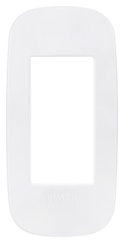 Накладка ROUND на 1 модуль для панелей белая