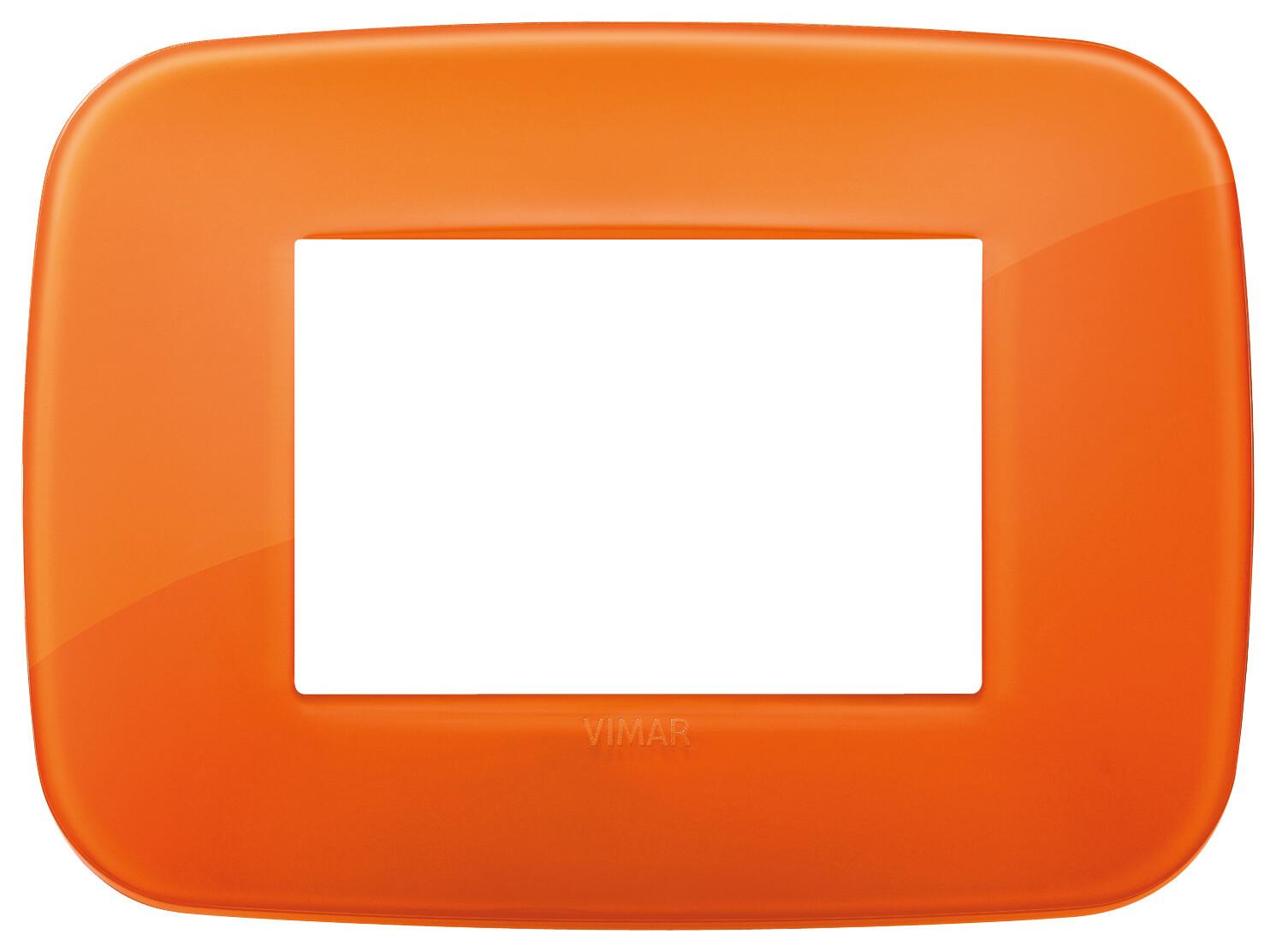 Накладка ROUND на 3 модуля Reflex оранжевая