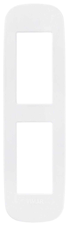 Накладка ROUND на 2 модуля для панелей белая