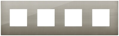 Накладка CLASSIC на 8 модулей (2+2+2+2) расстояние между центрами 71мм сталь матовая
