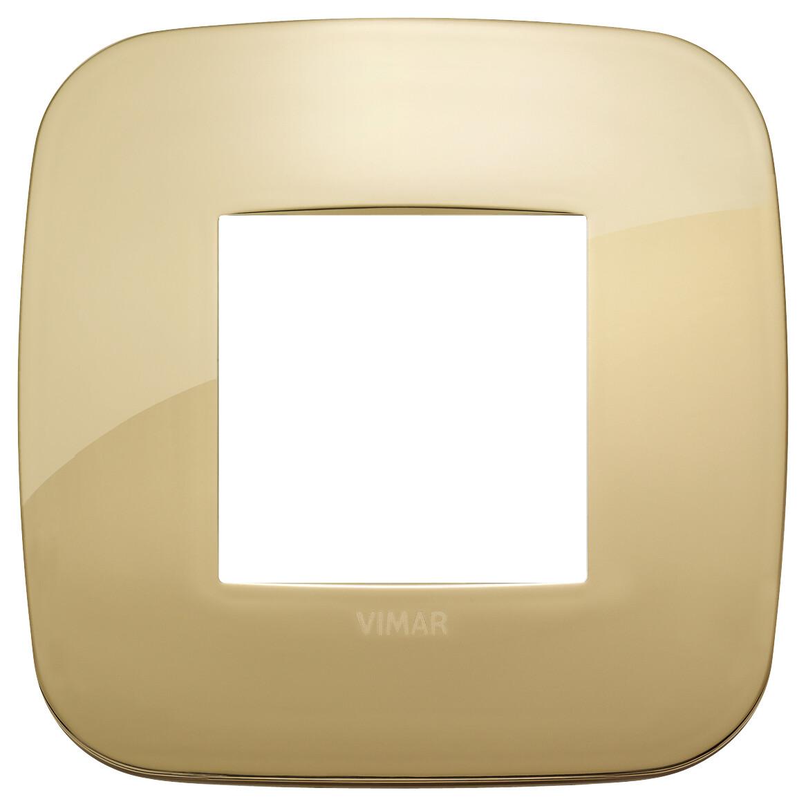 Накладка ROUND на 2 модуля золото