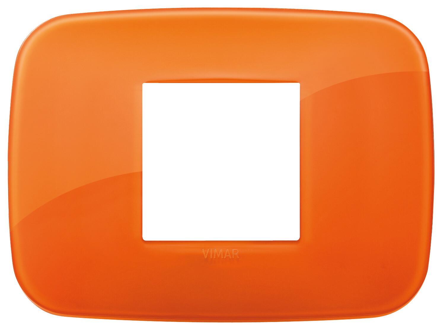 Накладка ROUND на 2 модуля центрально Reflex оранжевая