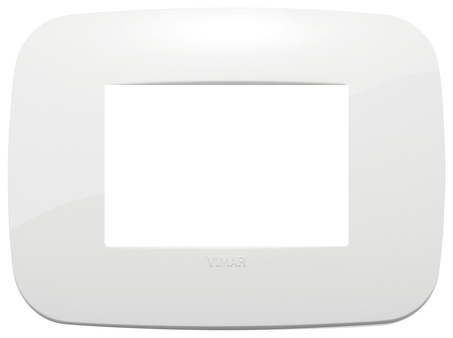 Накладка ROUND на 3 модуля белая