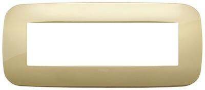 Накладка ROUND на 7 модулей золото