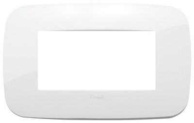 Накладка ROUND на 4 модуля белая