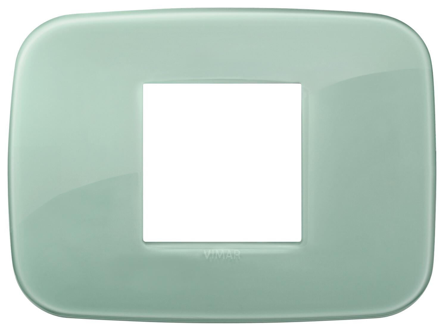 Накладка ROUND на 2 модуля центрально Reflex шалфейная