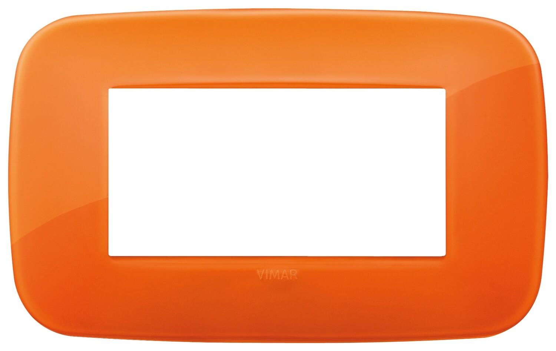 Накладка ROUND на 4 модуля Reflex оранжевая