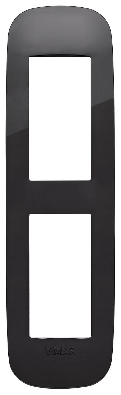 Накладка ROUND на 2 модуля для панелей черная