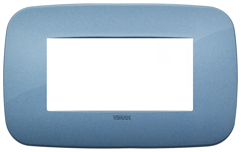 Накладка ROUND на 4 модуля синяя