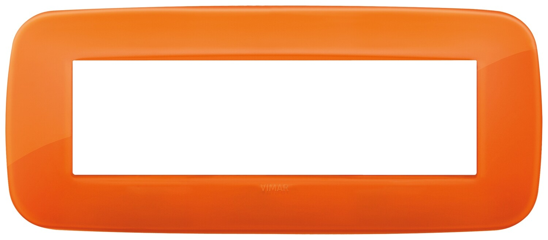 Накладка ROUND на 7 модулей Reflex оранжевая