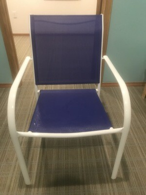 6x Blue Patio Chairs