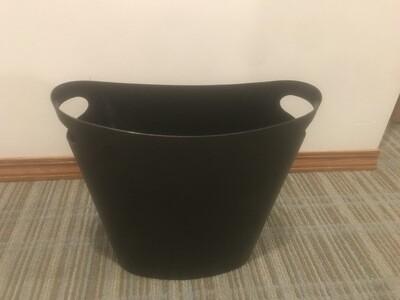 5x Black Plastic Mini Trash Bins
