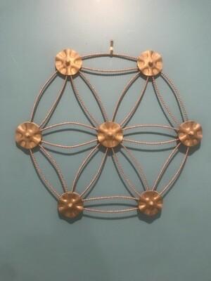 Flower of Life Metal Art Decoration