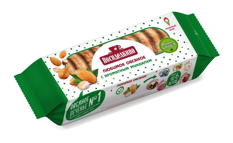 """""""Посиделкино"""" Печенье овсяное  с миндалем"""