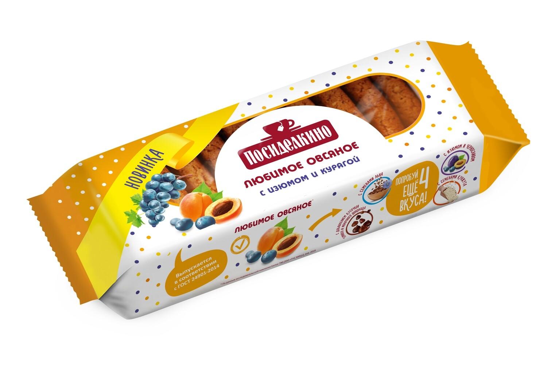 """""""Посиделкино"""" Печенье овсяное с изюмом и курагой"""