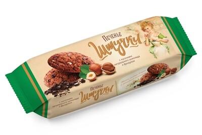 Штучки Печенье сдобное с кусочками натурального шоколада и фундуком