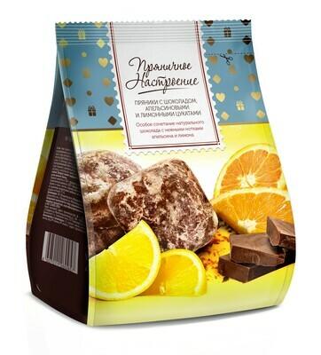 """""""Пряничное настроение"""" Пряники мини с шоколадом, апельсиновыми и лимонными цукатами"""
