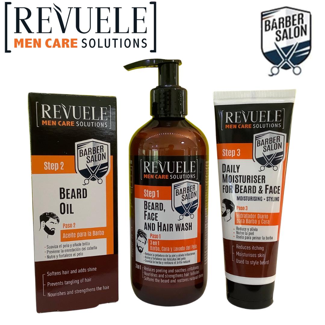 Revuele Men Care - beard oil, moisturiser, and beard & face wash