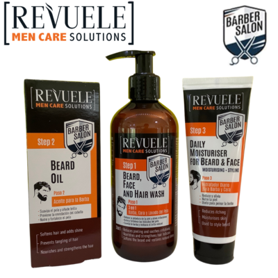 Revuele Men Care - beard oil, moisturiser, and beard & face wash - FREE SHIPPING