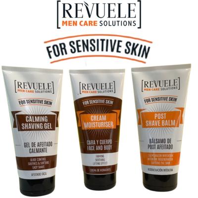 Revuele Men Care for Sensitive Skin - shaving gel, post-shave balm & moisturiser