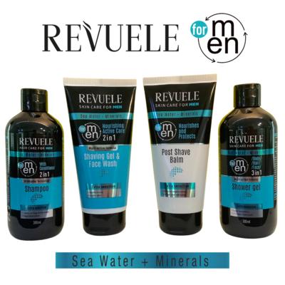 Revuele Men Care Sea Water Minerals Set - shampoo, shower gel, shaving gel & moisturiser