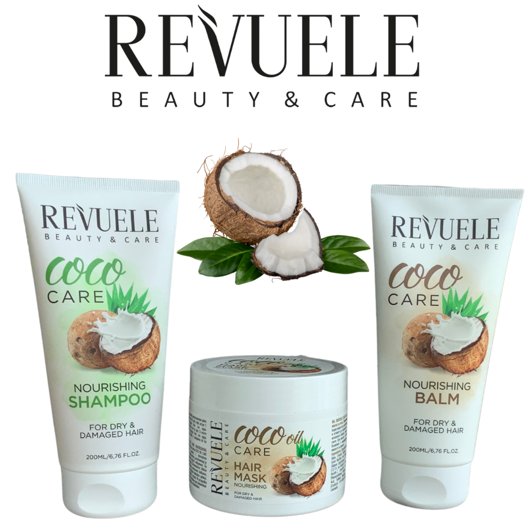 Revuele Coco Care Hair Care Set - shampoo, balm and hair mask **FREE OZ SHIPPING**
