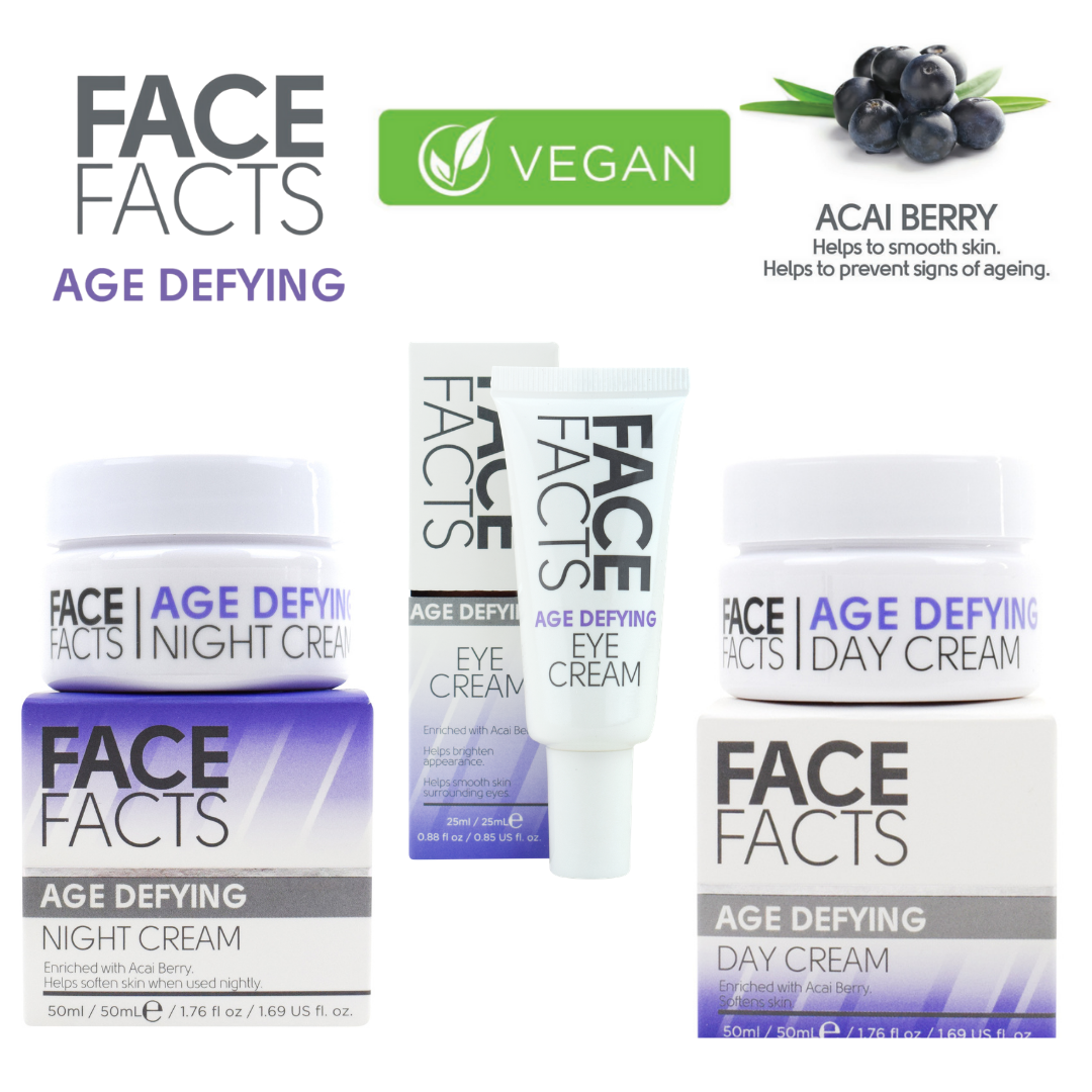 Face Fact Age Defying (Acai Berry) Skincare Set – 3 products VEGAN FRIENDLY