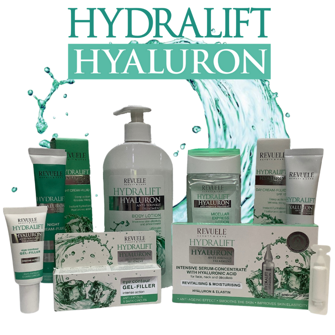 Revuele Hydralift Hyaluron Skincare Set – 6 Products Made in Europe