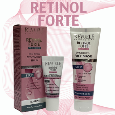 Revuele Retinol Forte Eye Serum & Face Mask Made in Europe - Free Oz Shipping from QLD