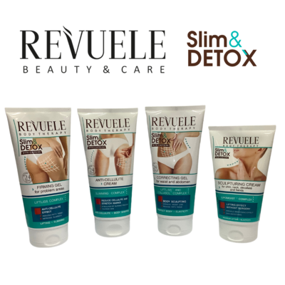 Slim & Detox Set - Sculpturing & Anti-Cellulite Cream, Firming & Correcting Gel
