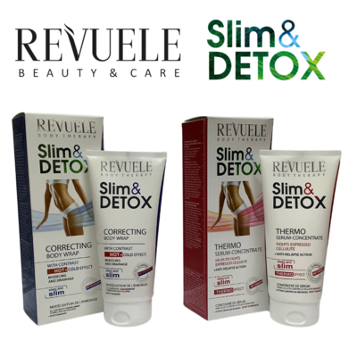 Revuele Slim & Detox Set - Correcting Hot + Cold Wrap & Thermo Serum-Concentrate