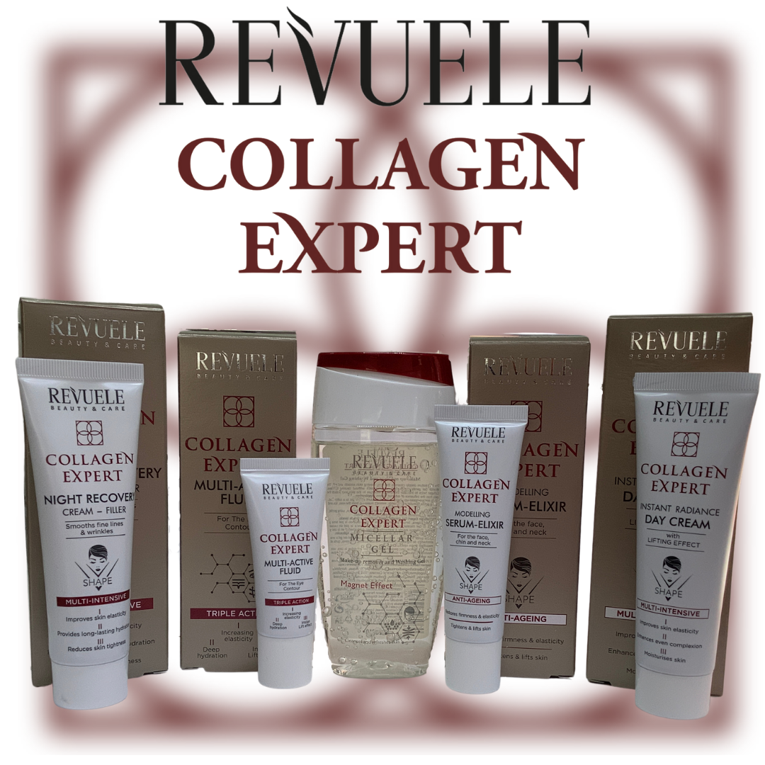 Revuele Collagen Expert Skincare Set – 5 Products Made in Europe - Free AU Shipping from QLD
