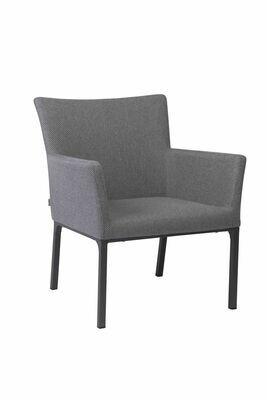 Lounge-Sessel Artus Aluminium anthrazit mit Outdoor-Stoff kristall anthrazit