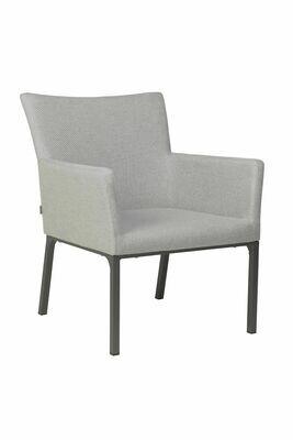 Lounge-Sessel Artus Aluminium anthrazit mit Outdoor-Stoff kristall silber