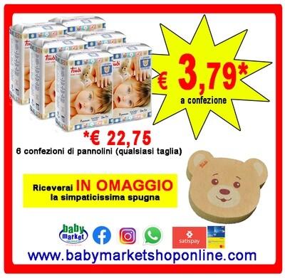 Trudi Pannolini Baby Care Dry Fit 1 Cartone da 6 confezioni