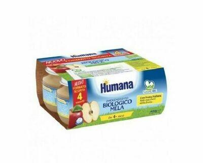 Humana Omogeneizzato Frutta Mela - 4x100 GR
