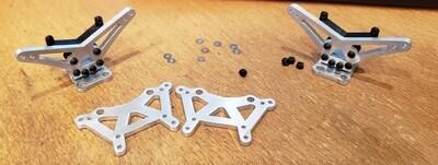 Losi Mini T 2.0 Carbon and Aluminum Fiber Shock Tower Sets