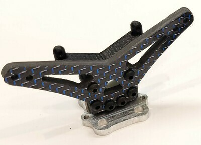 Losi Mini T 2.0 Carbon Fiber Rear Only Tower Assembly