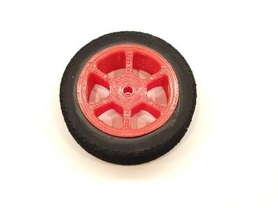 Mini B Foams - Six Spoke - Red