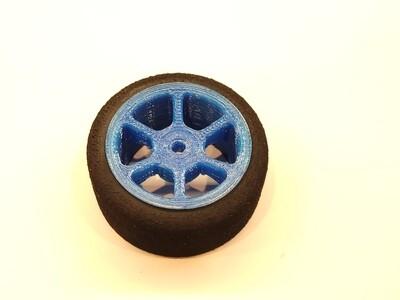 Mini B Foams - Six Spoke - Blue