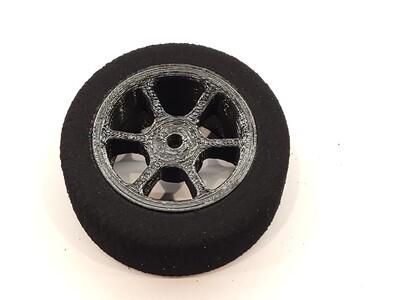 Mini B Foams - Six Spoke - Black