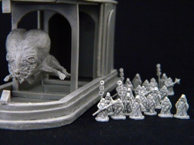 """Set based on the film """"Dune"""" 1984. Over 300 miniatures"""