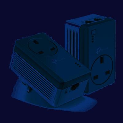 TP-LINK AV600 TL-PA4010P 600Mbps Passthrough Powerline Starter Kit (Twin Pack) - V2.2