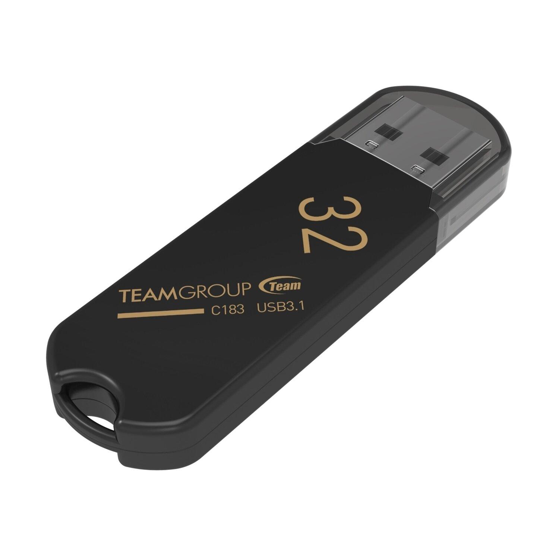 Team C183 32GB USB 3.1 Black USB Flash Drive